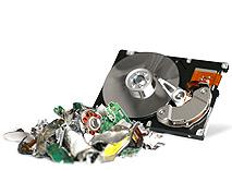 shredded hard drive