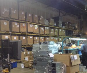 computer recycling company warehouse