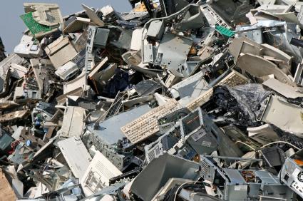 E-waste in dump